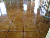 Acid Stained Concrete With Custom Scoring